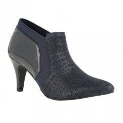 Lotus Bassi Pointed High Heeled Shoe Boot - Navy
