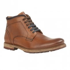 Lotus Teddington Mens Lace Up Ankle Boots - Cognac
