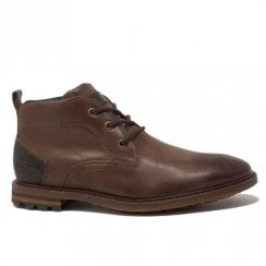 Lloyd & Pryce Mens Arkley Camel Lace Up Ankle Boots