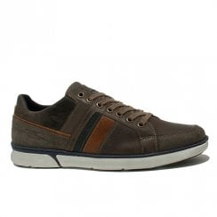 Lloyd & Pryce Mens Carney Khaki Casual Lace Up Shoes