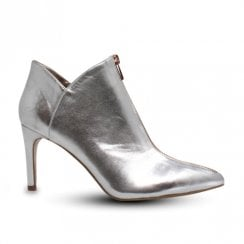 Una Healy The Joker High Heeled Front Zip Ankle Boots - Speck Silver