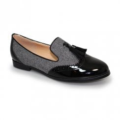 Lunar Womens Francine Tassel Loafers Shoes - Grey
