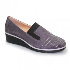 Lunar Womens Allegra Low Wedged Fashion Shoes - Grey
