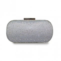 Lunar Robin Occasion Gemstone Clutch Bag - Silver