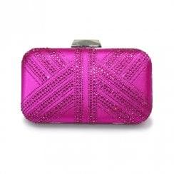 Lunar Ruth Diamante Handbag - Cerise Pink