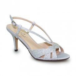 Lunar Robin Elegance Gemstone High Heel Sandals - Silver