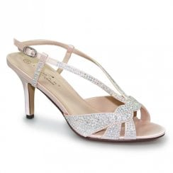 Lunar Robin Elegance Gemstone High Heel Sandals - Pink
