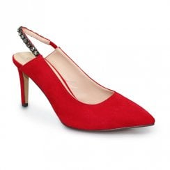 Lunar Jayla Evening Court Shoes - Red