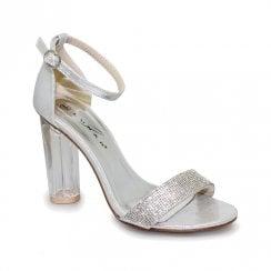Lunar Gabriella Perspex High Heel Sandals - Silver