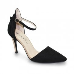 Lunar Isla Suede Ankle Strap Court Shoes - Black