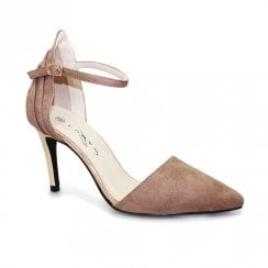 Lunar Isla Suede Ankle Strap Court Shoes - Taupe