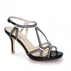 Lunar Darcie Glitz Heel Sandals - Black