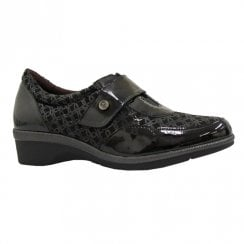 Pitillos Womens Low Wedge Heeled Shoes - Black