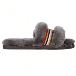 EMU Wrenlette - Charcoal Grey Slider Slippers