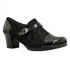 Pitillos Womens Mid Block Heeled Shoes - Black