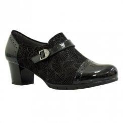 Pitillos Womens Mid Block Heeled Shoes - Black