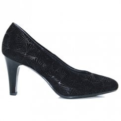 Pitillos Womens High Heeled Court Shoes - Black