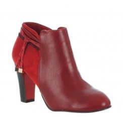 Kate Appleby Hutton Heeled Low Cut Ankle Boots - Burgundy
