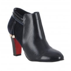 Kate Appleby Hutton Heeled Low Cut Ankle Boots - Navy