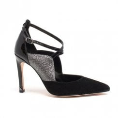 Amy Huberman Top Hat Pointed Toe Stiletto Shoes - Black