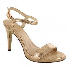 Menbur Siusi Strappy Stiletto Sandals - Gold