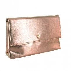 Menbur Bubbio Rose Gold Occasions Clutch Bag