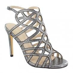 Menbur Meida Strappy Stiletto Sandals - Grey
