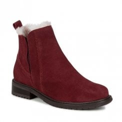 EMU Pioneer Suede Waterproof Chelsea Boots - Red Wine