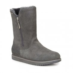 EMU Gravelly Suede Mid Calf Waterproof Boots - Charcoal