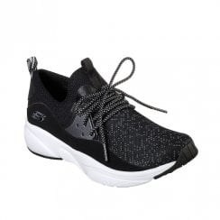 Skechers Womens Meridian Mesh Fabric Sneakers - Black