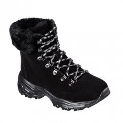 Skechers Womens D'Lites Alps Ankle Boots - Black