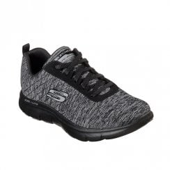 Skechers Womens Flex Appeal 2.0 Jersey Knit Sneakers - Black