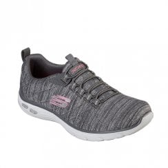 Skechers Womens Relaxed Fit Empire D'Lux Casual Walking Sneakers - Grey