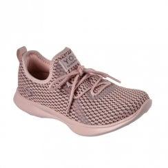 Skechers Womens YOU Serene Comfort Soft Sneakers - Pink