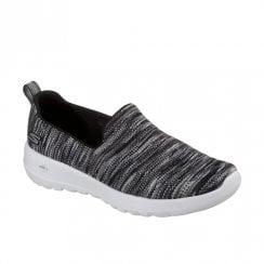 Skechers Womens GOwalk Joy Terrific Slip On Shoes - Black Grey