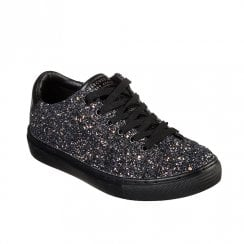 Skechers Womens Side Street Awesome Sauce Sneakers - Black