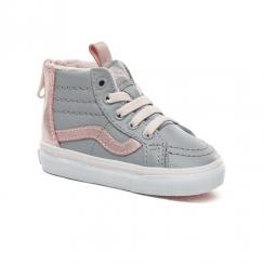 Vans Infant Suede Sk8-Hi MTE Zip Shoes - Metallic Grey/Pink