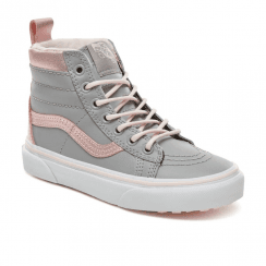 Vans Girls Sk8-Hi Top MTE Shoes - Metallic Grey/Pink