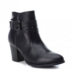 XTI Womens Heeled Urban Ankle Boots - Black