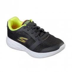 Skechers Boy's GOrun 600 Zeeton Trainers - Charcoal/Lime