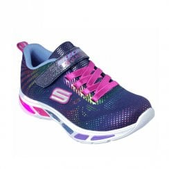 Skechers Girls Lights: Litebeams Gleam N' Dream Trainers - Navy/Multi