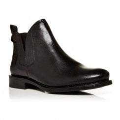Moda In Pelle Ametti Black Leather Chelsea Ankle Boots