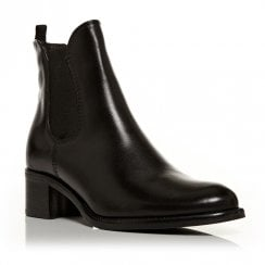 Moda In Pelle Colina Black Leather Chelsea Ankle Boots
