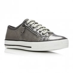 Moda In Pelle Fiarli Pewter Leather Casual Shoes