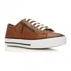 Moda In Pelle Fiarli Tan Leather Casual Shoes