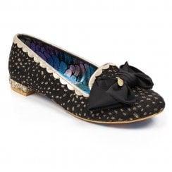 Irregular Choice Sulu Embroidery Slipper Flats - Black