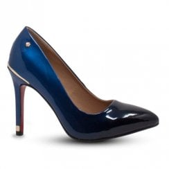 Kate Appleby Cornwell High Heeled Court Shoes - Patent Navy