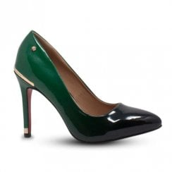 Kate Appleby Cornwell High Heeled Court Shoes - Patent Green Avocado