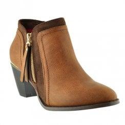 Kate Appleby Harrow Block Mid Heeled Ankle Boots - Brown Fudge