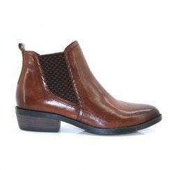 Marco Tozzi Leather Chelsea Boots – Cognac Antic